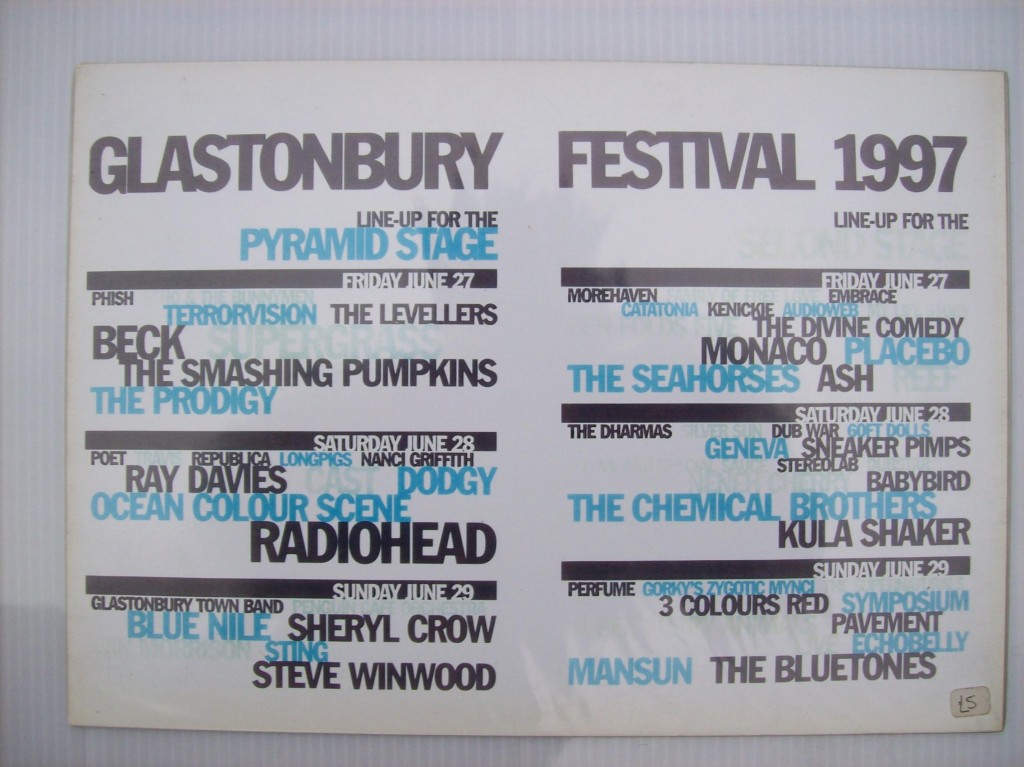 Glastonbury 1997